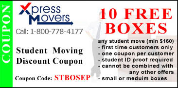 Free Moving Boxes for Student Moves